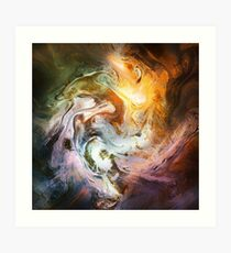 Fluid Movement Abstract Art Art Print