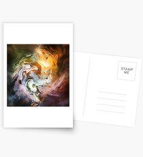 Fluid Movement Abstract Art Postcards