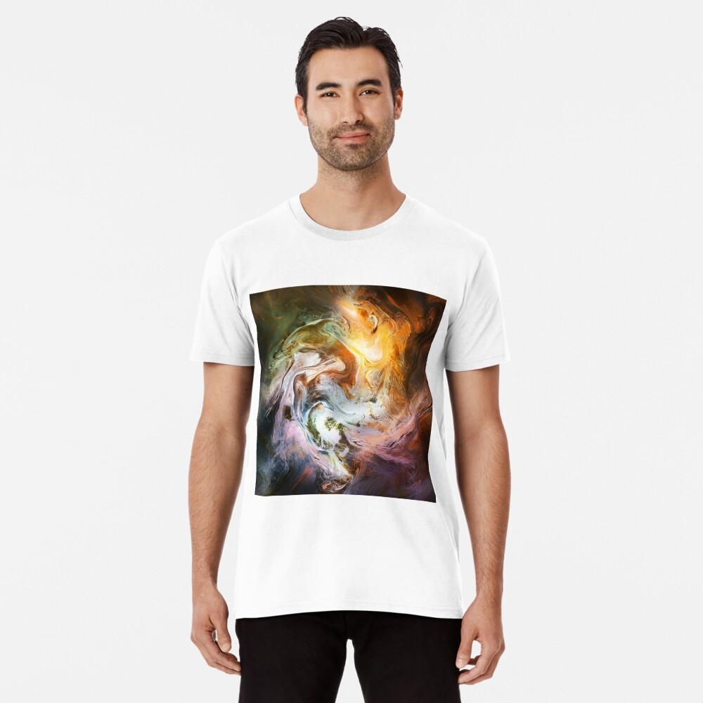 Fluid Movement Abstract Art Premium T-Shirt