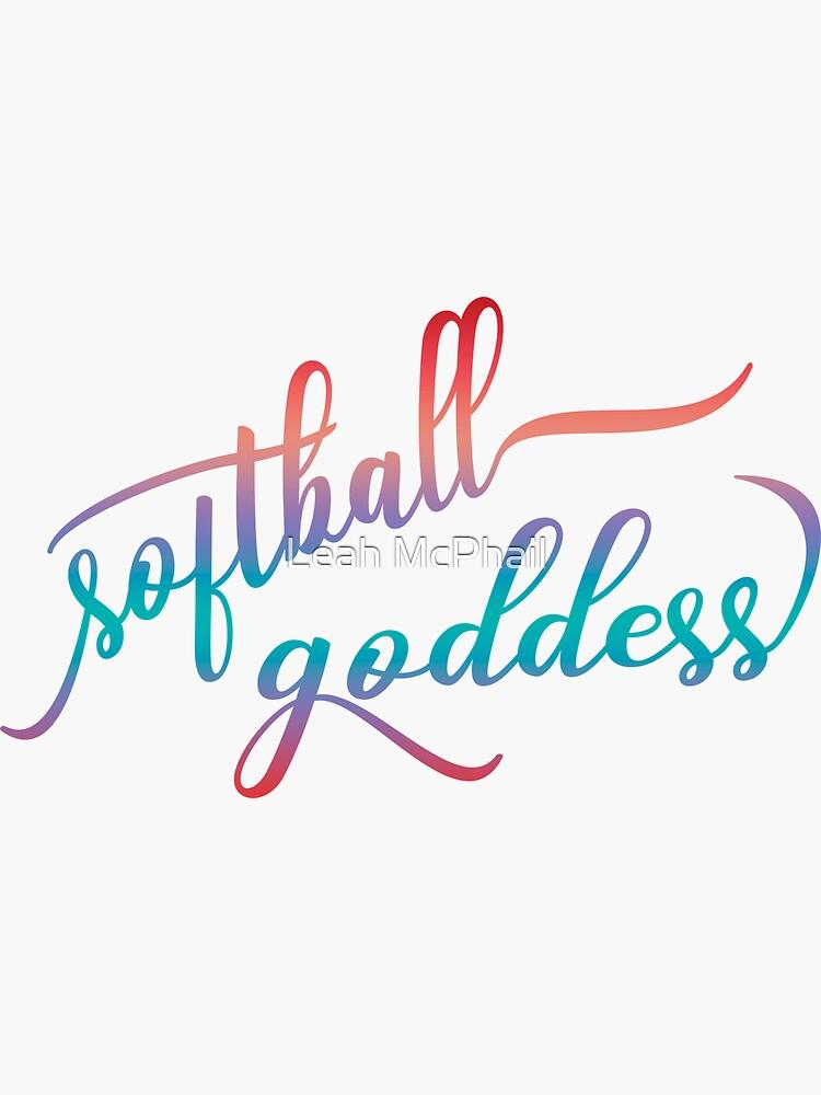 Softball Goddess Summer Ombre by LeahMcPhail