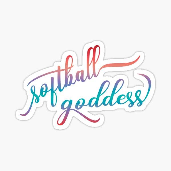 Softball Goddess Summer Ombre Sticker