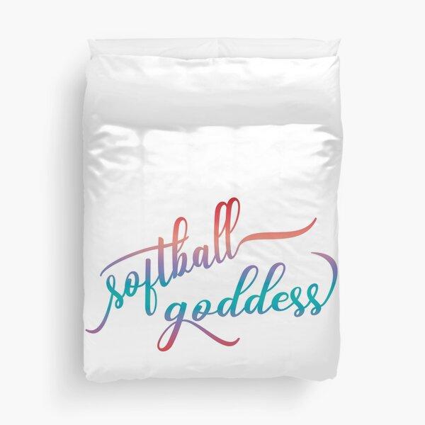 Softball Goddess Summer Ombre Duvet Cover
