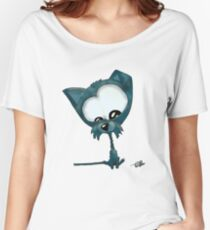 A blue cat and mouse -( lunch )- on the go Women's Relaxed Fit T-Shirt