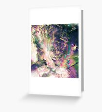Fragmented Abstract Artwork Greeting Card