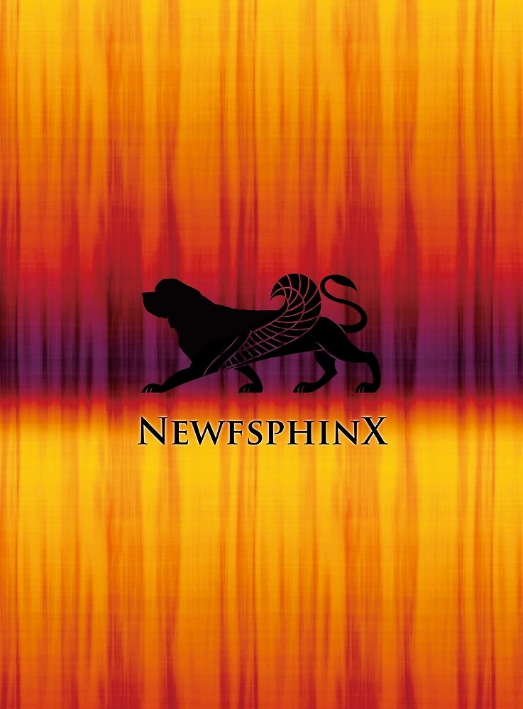 Newfie Sphinx by Christine Mullis