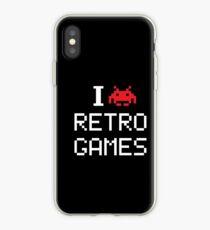 i love retro game iPhone Case