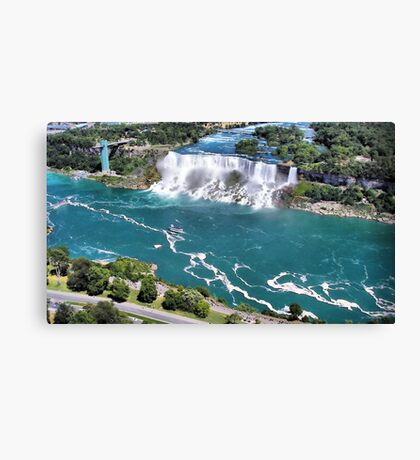 Niagara Fall from the air part 2 us fall Canvas Print