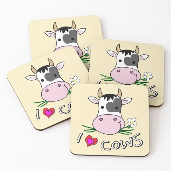 I Love Cows Coasters (Set of 4)