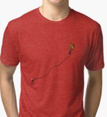 """""""Hi"""" as a Kite Graphic Design Tri-blend T-Shirt"""