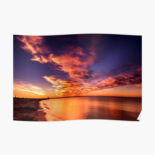 Red Sky at Night, Shepherds Delight Poster