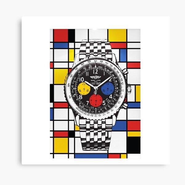 Breitling Mondrian Canvas Print