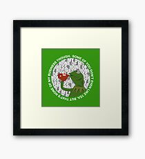 Kermit Sipping Tea (But that's none of my business) Framed Print