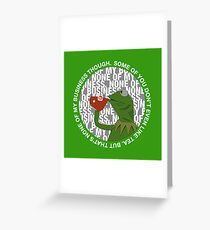 Kermit Sipping Tea (But that's none of my business) Greeting Card