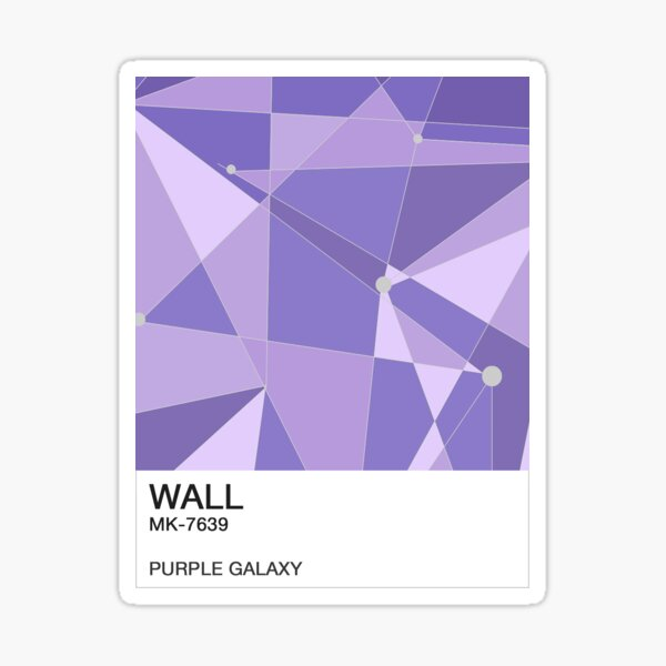 Purple Galaxy Wall Sticker