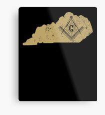 The Freemason Kentucky Shirt With Masonic Symbol Metal Print