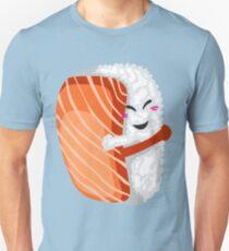 Camiseta unisex Abrazo de sushi