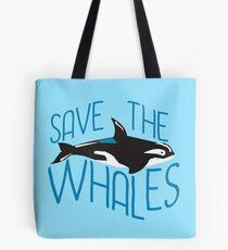 Niedlich die Wale retten Tote Bag