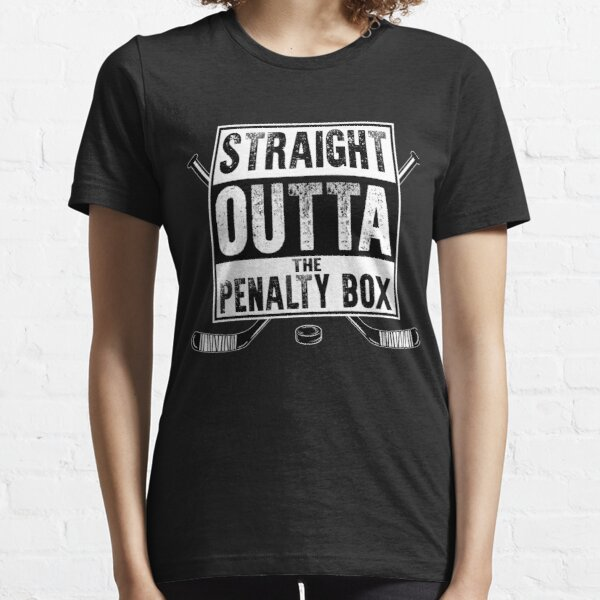 straight outta the penalty box | ice hockey shirt | ice hockey gifts | hockey apparel | hockey goalie | hockey coach | hockey mom | hockey dad | hockey is life Essential T-Shirt