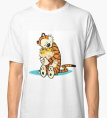Calvin and Hobbes Hugging Classic T-Shirt