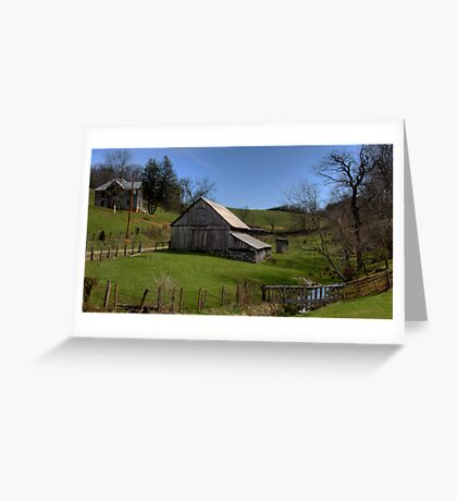 Barn by the Stream Greeting Card