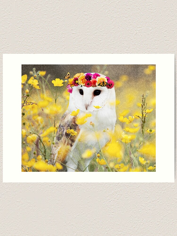 woodland animal home decor osha the owl  animal wall art print  8x10  watercolor owl  owl  animal wall art print  8x10