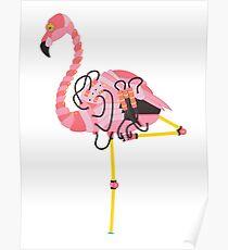 Robot Flamingo Poster