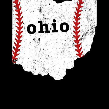Youth Baseball Slow Pitch Softball Shirt Ohio by shoppzee