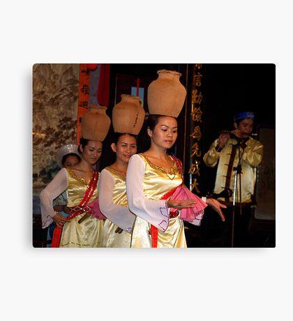 Dancers in Hoi An, Vietnam Canvas Print