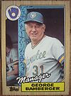 102 - George Bamberger by Foob's Baseball Cards