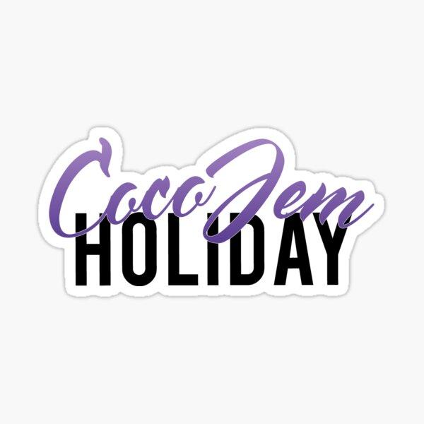 Coco Jem Holiday - Name Design - Purple Sticker