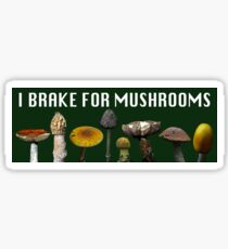 I Brake for Mushrooms - Bumper Sticker Sticker