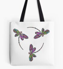 Dragonfly Trinity  Tote Bag