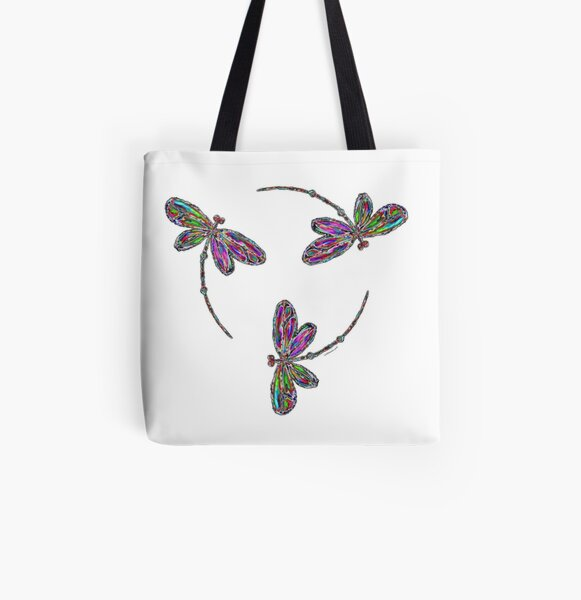 Dragonfly Trinity  All Over Print Tote Bag