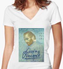 Loving Vincent Women's Fitted V-Neck T-Shirt