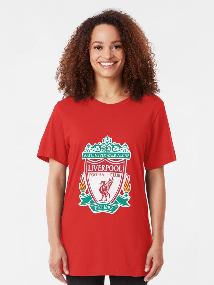 Liverpool Football Club Never Walk Alone Banner Girls Graphic T Shirt