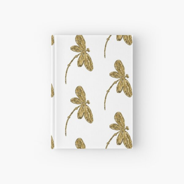 Gorgeous Golden Dragonfly!!! Hardcover Journal