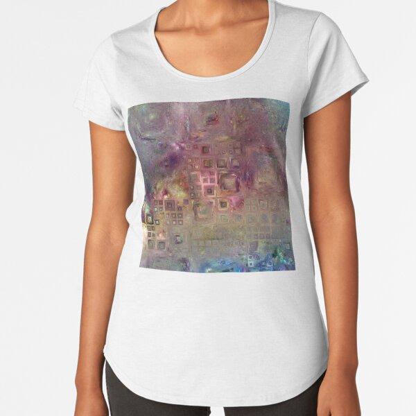 Crystalline Squares 6 Premium Scoop T-Shirt