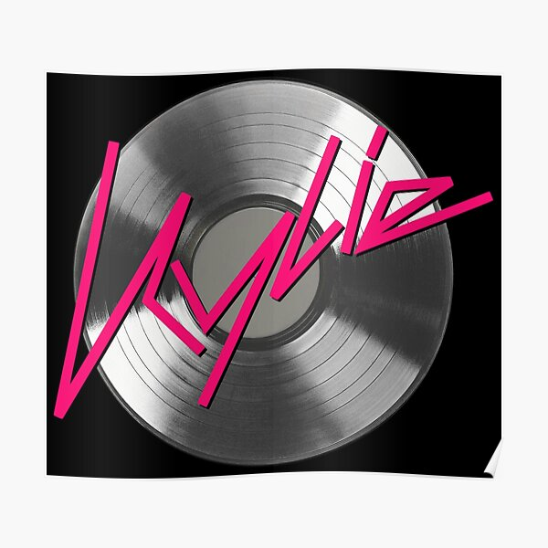 Kylie Minogue - record (silver) Poster