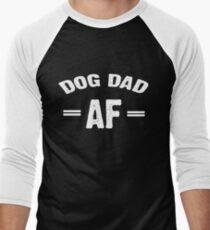 7a87130c6 Dog Dad AF Men's Baseball ¾ T-Shirt