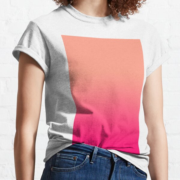 VERY VIVID AFTERNOON COCTAIL   VIVID TANGERINE AND VIVID RASBERRY  OMBRE BY OZCUSHIONS Classic T-Shirt