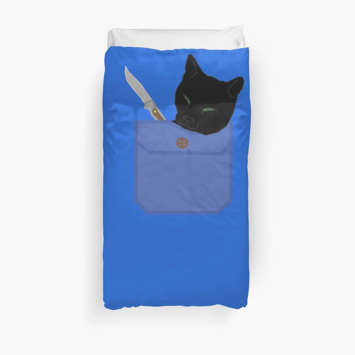 Pocket pocket knife cat by AFoxOnARock