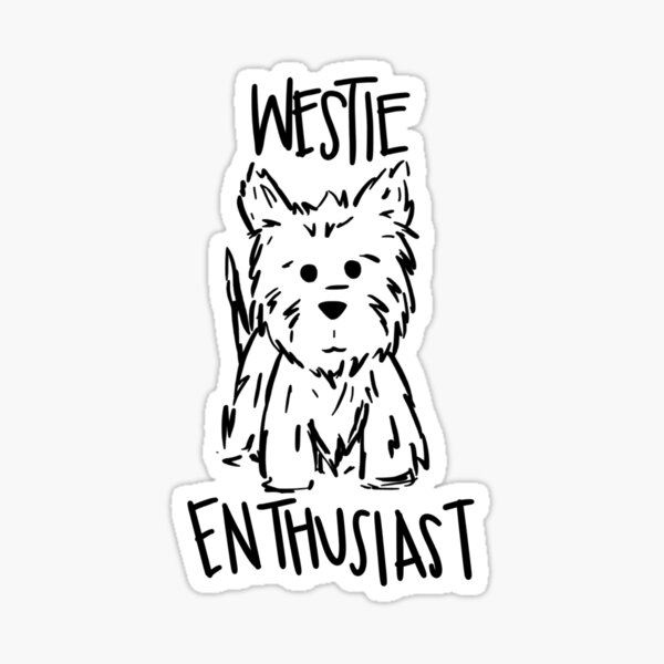 Westie Enthusiast Westie Lover Sticker