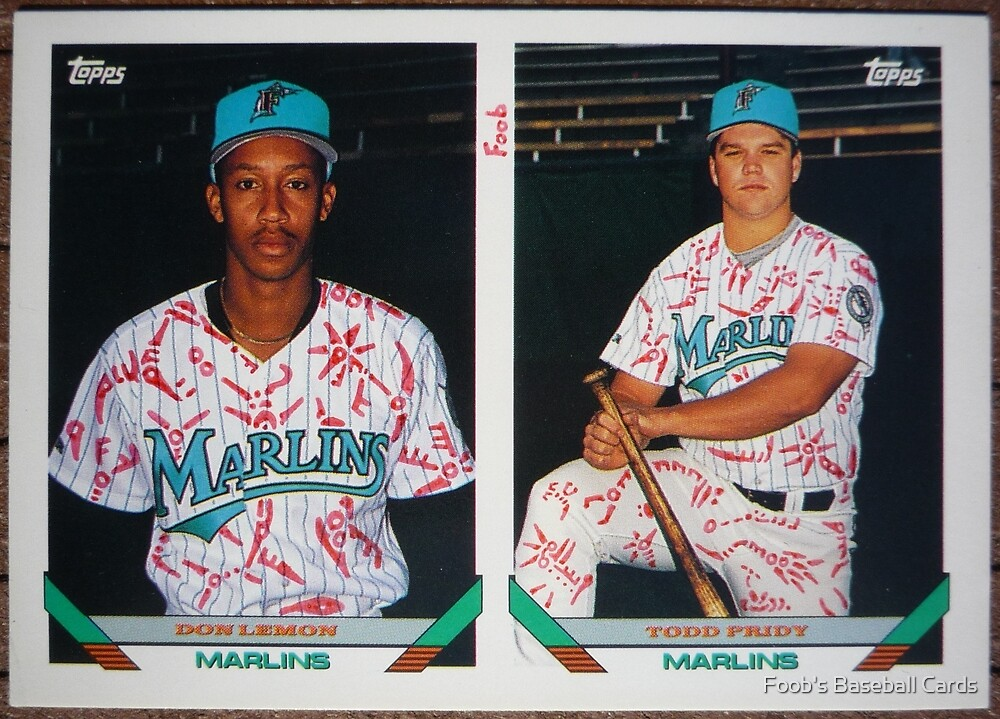123 - Don Lemon | Todd Pridy by Foob's Baseball Cards