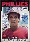 129 - Steve Jeltz by Foob's Baseball Cards