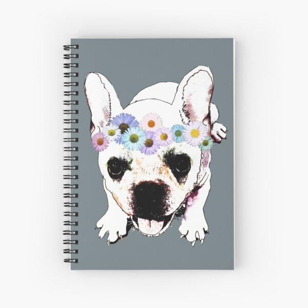 Dangerously cute  Frenchie Bulldog Puppy  Spiral Notebook