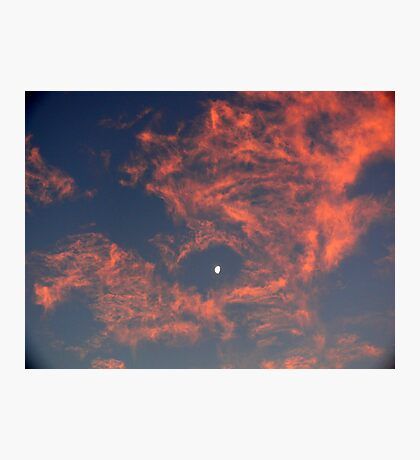 Sunset Moon 2 Photographic Print