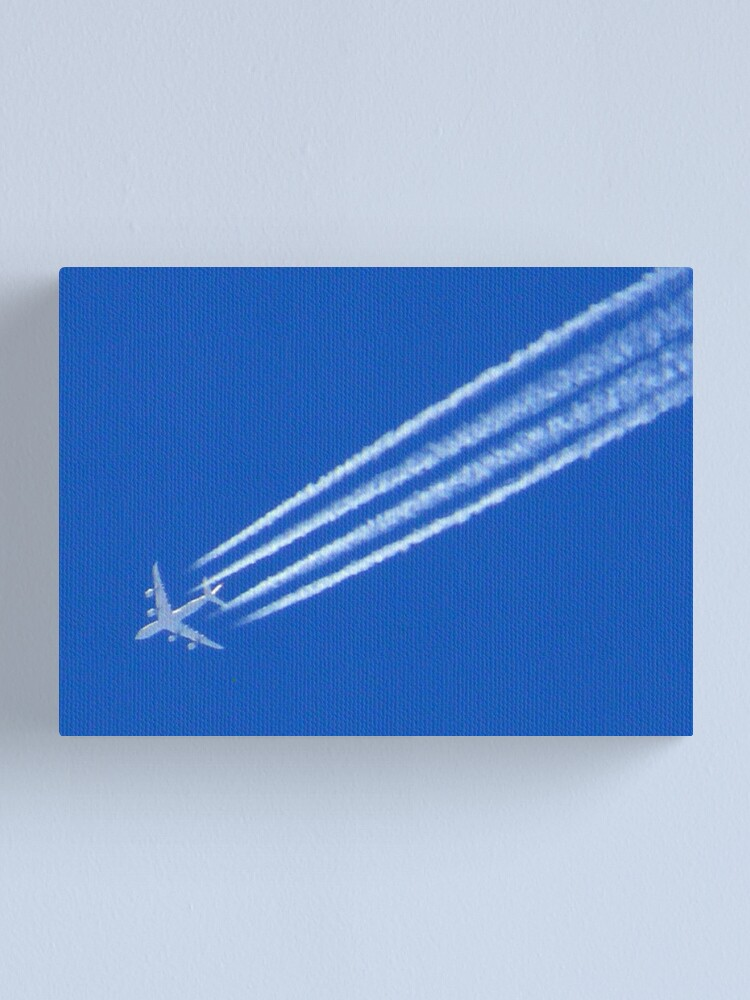 Alternate view of With Vapour-trails Canvas Print
