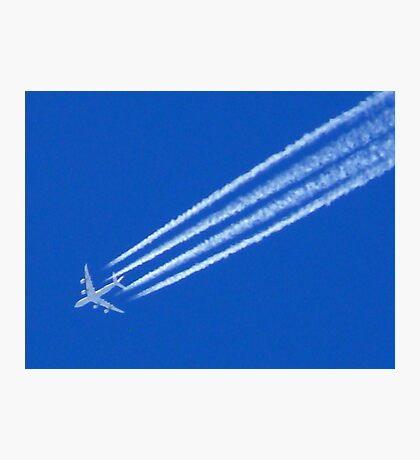 With Vapour-trails Photographic Print