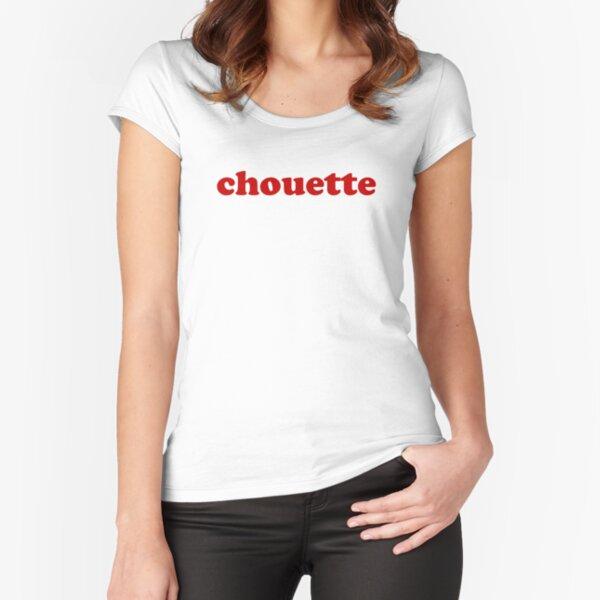 Chouette - Douce en français T-shirt échancré