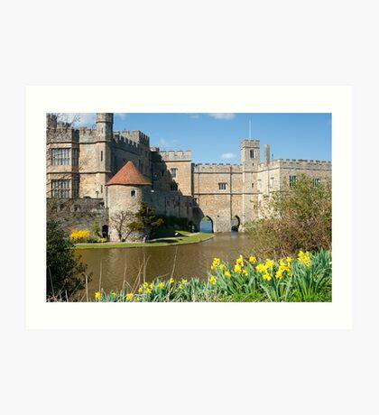Leeds Castle Kent UK: Springtime Easter Art Print